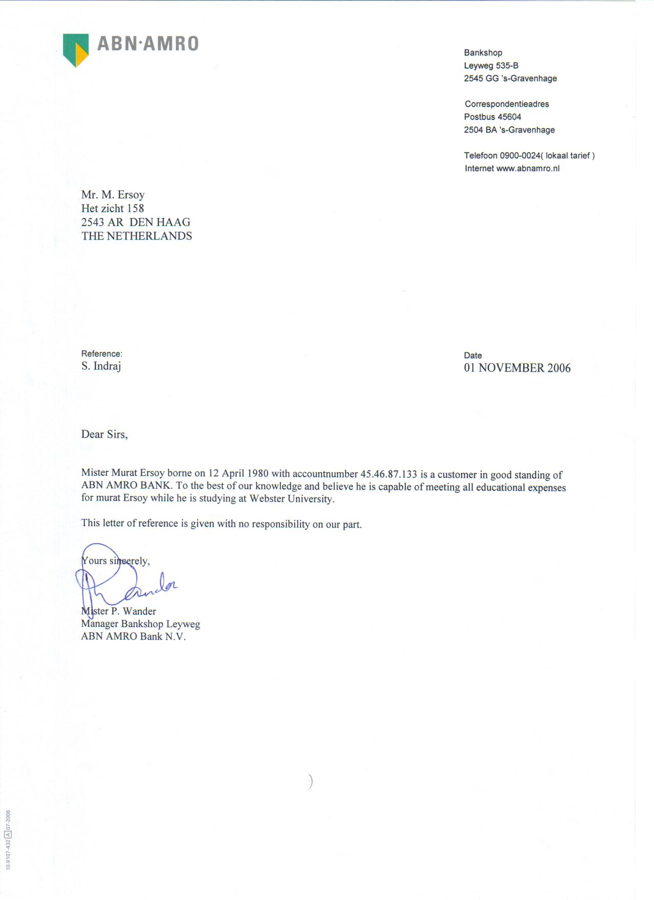 www.muratersoy.nl - Letters of Recommendation